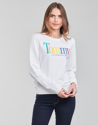 textil Mujer Sudaderas Tommy Jeans TJW REGULAR COLOR TOMMY CREW Blanco