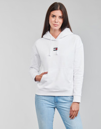 textil Mujer Sudaderas Tommy Jeans TJW TOMMY CENTER BADGE HOODIE Blanco