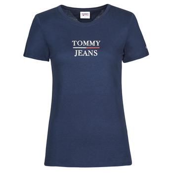 textil Mujer Camisetas manga corta Tommy Jeans TJW SKINNY ESSENTIAL TOMMY T SS Marino
