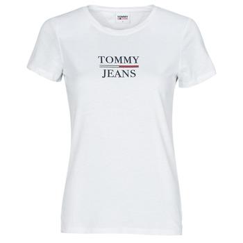 textil Mujer Camisetas manga corta Tommy Jeans TJW SKINNY ESSENTIAL TOMMY T SS Blanco