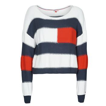 textil Mujer Jerséis Tommy Jeans TJW  RWB STRIPE SWEATER Azul / Blanco / Rojo