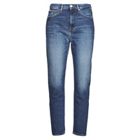 textil Mujer Vaqueros rectos Tommy Jeans IZZIE HR SLIM ANKLE AE632 MBC Marino