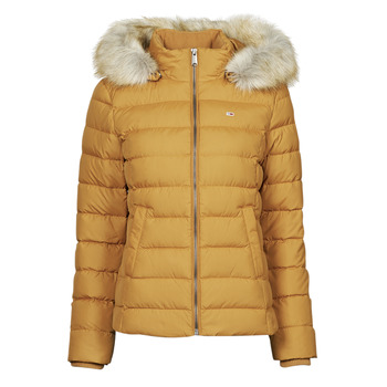 textil Mujer Plumas Tommy Jeans TJW BASIC HOODED DOWN JACKET Mostaza