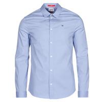 textil Hombre Camisas manga larga Tommy Jeans TJM ORIGINAL STRETCH SHIRT Azul