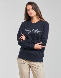 textil Mujer Sudaderas Tommy Hilfiger REGULAR GRAPHIC C-NK SWEATSHIRT Marino