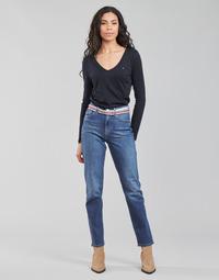 textil Mujer Vaqueros rectos Tommy Hilfiger NEW CLASSIC STRAIGHT HW A LEA Azul / Medium