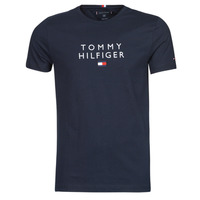 textil Hombre Camisetas manga corta Tommy Hilfiger STACKED TOMMY FLAG TEE Marino