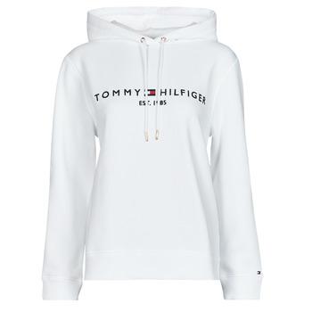textil Mujer Sudaderas Tommy Hilfiger HERITAGE HILFIGER HOODIE LS Blanco