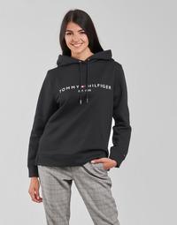 textil Mujer Sudaderas Tommy Hilfiger HERITAGE HILFIGER HOODIE LS Negro