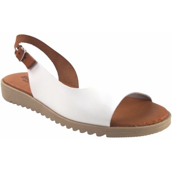 Zapatos Mujer Sandalias Eva Frutos Sandalia señora  1205 blanco Marrón