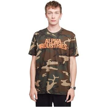 textil Hombre Camisetas manga corta Alpha Blurred Beige, Marrón