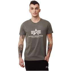 textil Hombre Camisetas manga corta Alpha Basic Marrón
