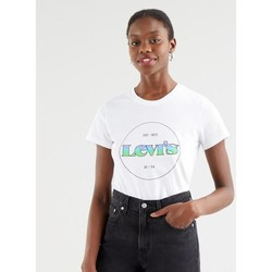 textil Mujer Camisetas manga corta Levi's Strauss CAMISETA PERFECT LEVIS MUJER Blanco