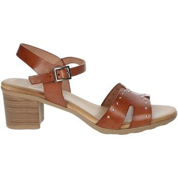 Zapatos Mujer Sandalias Porronet FI2626 Marrón cuero
