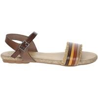 Zapatos Mujer Sandalias Porronet FI2605 Marrón cuero