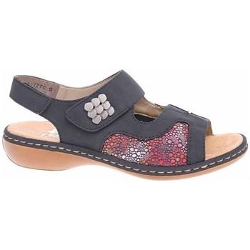 Zapatos Mujer Sandalias Rieker 6598914 Rojos, Grises, Grafito