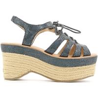 Zapatos Mujer Sandalias Police 883 V70 Azul