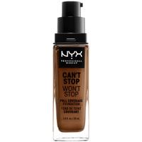 Belleza Mujer Base de maquillaje Nyx Can't Stop Won't Stop Full Coverage Foundation cappucciono