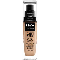Belleza Mujer Base de maquillaje Nyx Can't Stop Won't Stop Full Coverage Foundation medium Olive