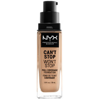 Belleza Mujer Base de maquillaje Nyx Can't Stop Won't Stop Full Coverage Foundation true Beige 30 m