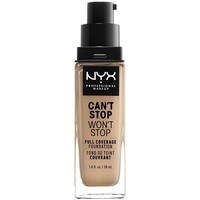 Belleza Mujer Base de maquillaje Nyx Can't Stop Won't Stop Full Coverage Foundation soft Beige