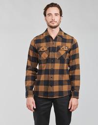 textil Hombre Camisas manga larga Dickies NEW SACRAMENTO SHIRT Camel / Negro