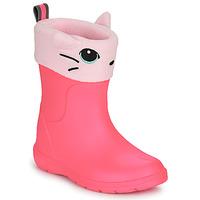 Zapatos Niña Botas de agua Isotoner 99314 Rosa