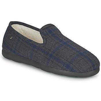 Zapatos Hombre Pantuflas Isotoner 98038 Gris / Azul