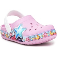 Zapatos Niña Zuecos (Clogs) Crocs FL Star Band Clog 207075-6GD púrpura