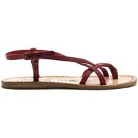 Zapatos Mujer Sandalias Gianluca - L'artigiano Del Cuoio 537-ROSSO-FT ROSSO