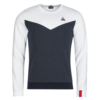 textil Hombre Sudaderas Le Coq Sportif SAISON 1 CREW SWEAT N 1 Marino / Blanco