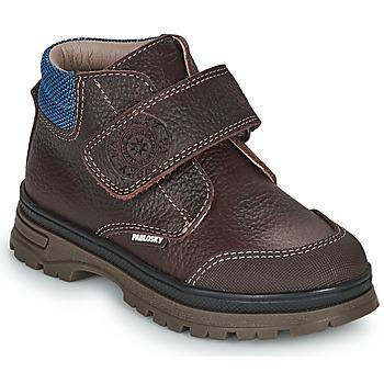 Zapatos Niño Botas de caña baja Pablosky 502993 Marrón