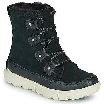 Zapatos Mujer Botas de caña baja Sorel SOREL EXPLORER II JOAN FAUX FUR Negro