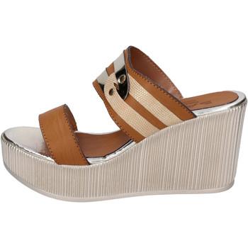 Zapatos Mujer Zuecos (Mules) Sara Collection BJ940 Marrón
