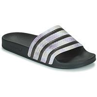 Zapatos Mujer Chanclas adidas Originals ADILETTE Negro / Plateado