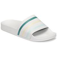 Zapatos Mujer Chanclas adidas Originals ADILETTE Blanco / Verde / Rosa