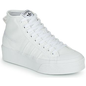 Zapatos Mujer Zapatillas altas adidas Originals NIZZA PLATFORM MID Blanco