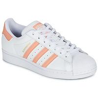 Zapatos Mujer Zapatillas bajas adidas Originals SUPERSTAR Blanco / Rosa