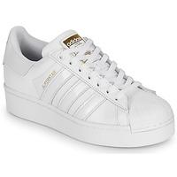 Zapatos Mujer Zapatillas bajas adidas Originals SUPERSTAR BOLD W Blanco