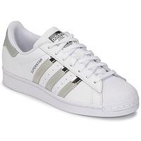 Zapatos Mujer Zapatillas bajas adidas Originals SUPERSTAR W Blanco / Plateado