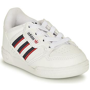 Zapatos Niños Zapatillas bajas adidas Originals CONTINENTAL 80 STRI I Blanco / Azul