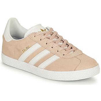Zapatos Niña Zapatillas bajas adidas Originals GAZELLE J Rosa