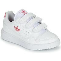 Zapatos Niña Zapatillas bajas adidas Originals NY 90  CF C Blanco / Rosa