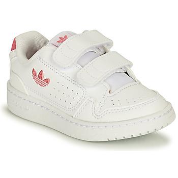 Zapatos Niña Zapatillas bajas adidas Originals NY 90 CF I Blanco / Rosa