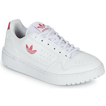 Zapatos Niña Zapatillas bajas adidas Originals NY 90 J Blanco / Rosa