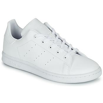 Zapatos Niños Zapatillas bajas adidas Originals STAN SMITH C Blanco