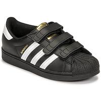 Zapatos Niños Zapatillas bajas adidas Originals SUPERSTAR CF C Negro / Blanco