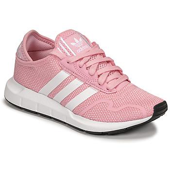 Zapatos Niña Zapatillas bajas adidas Originals SWIFT RUN X J Rosa / Blanco