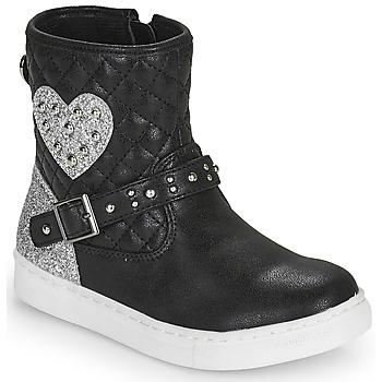 Zapatos Niña Botas de caña baja Primigi B&G LUX Negro / Plata