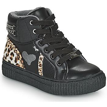Zapatos Niña Zapatillas altas Primigi GIRL ALPHA Negro / Leopardo